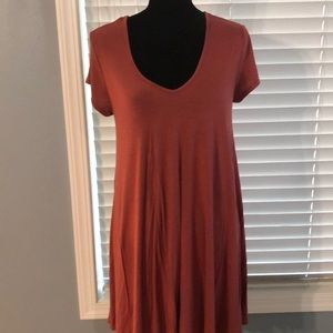 Maxi short sleeve dress. Size Lg